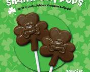Chocolate Shamrock Lollipops