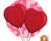 Red Chocolate Heart Lollipops